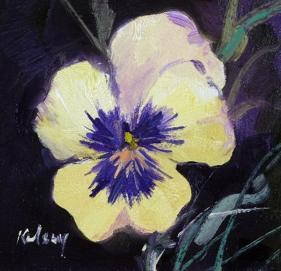RK0143PANSY STUDY IN YELLOW