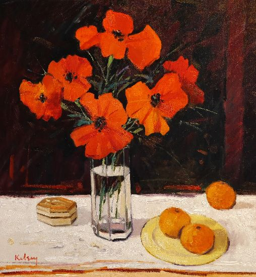 RK0153-STILL LIFE WITH POPPIES