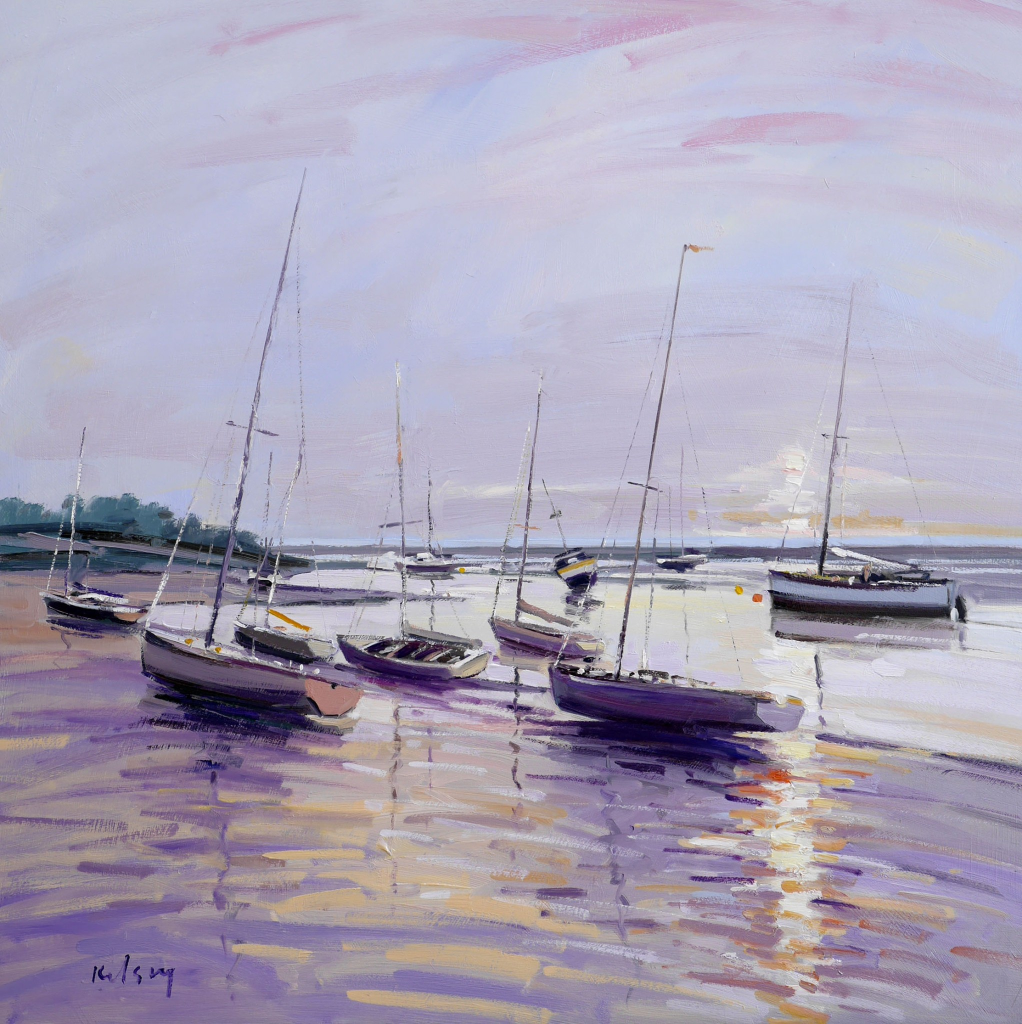 Boats in the Evening Light, Norfolk