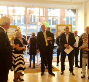 John Thompson opening the exhibition.