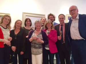 Jean and I pictured with a number of Thompson's staff past and present, who came to celebrate with us.