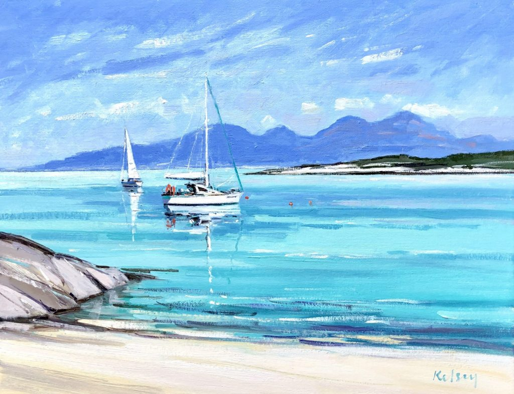 Small Boats off Colonsay 01 19