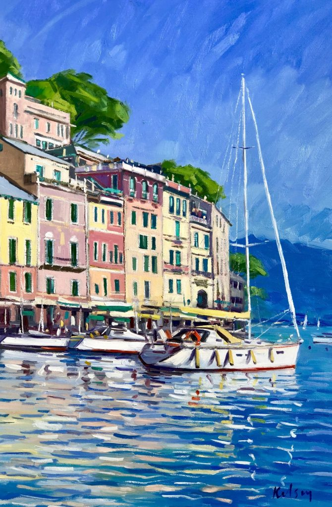 Sunlit Buildings, Portofino 07 19