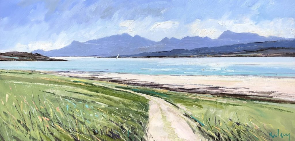 The Hills of Arran from Bute 02 19