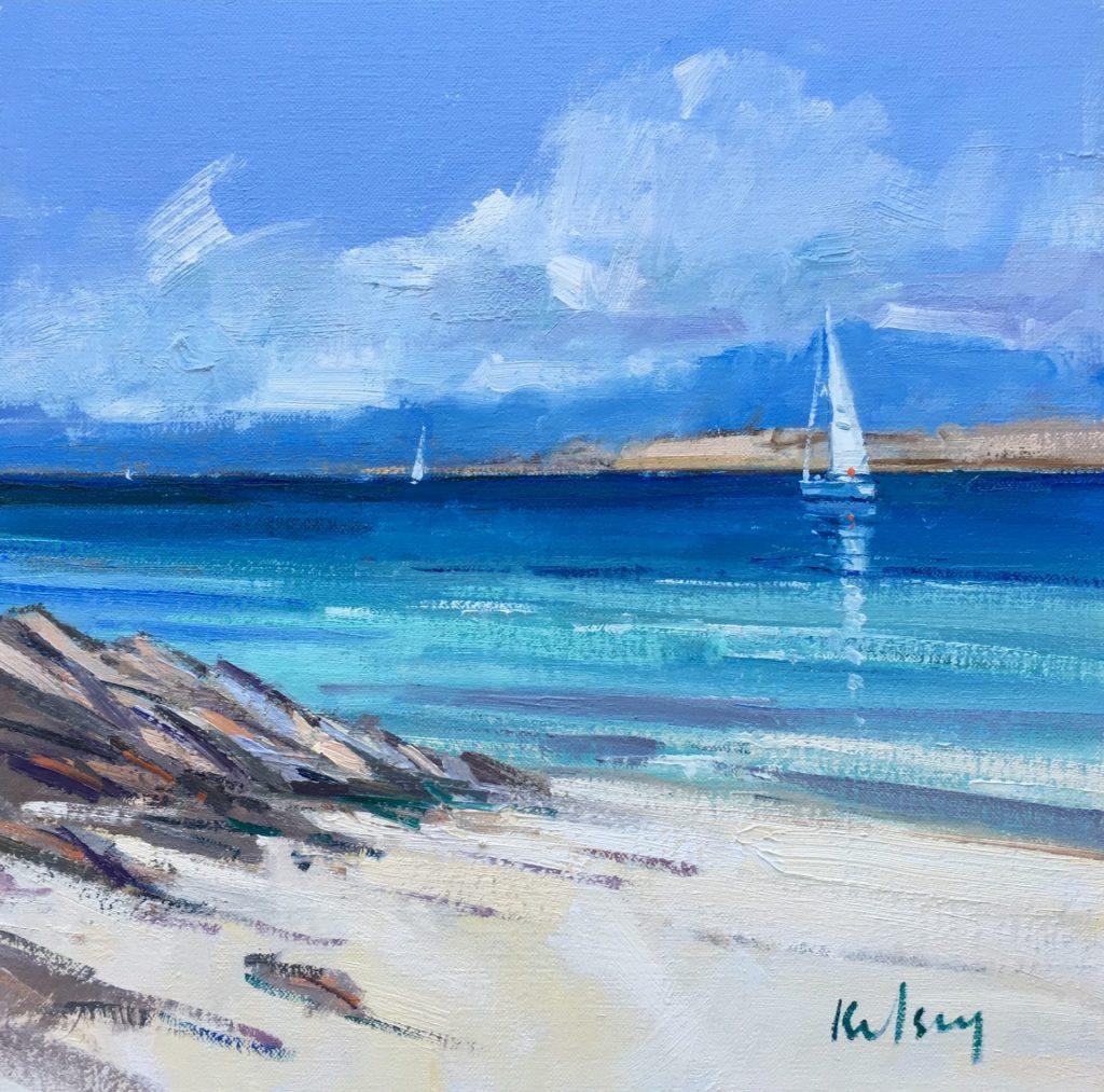 Yacht sailing off Iona 10 18
