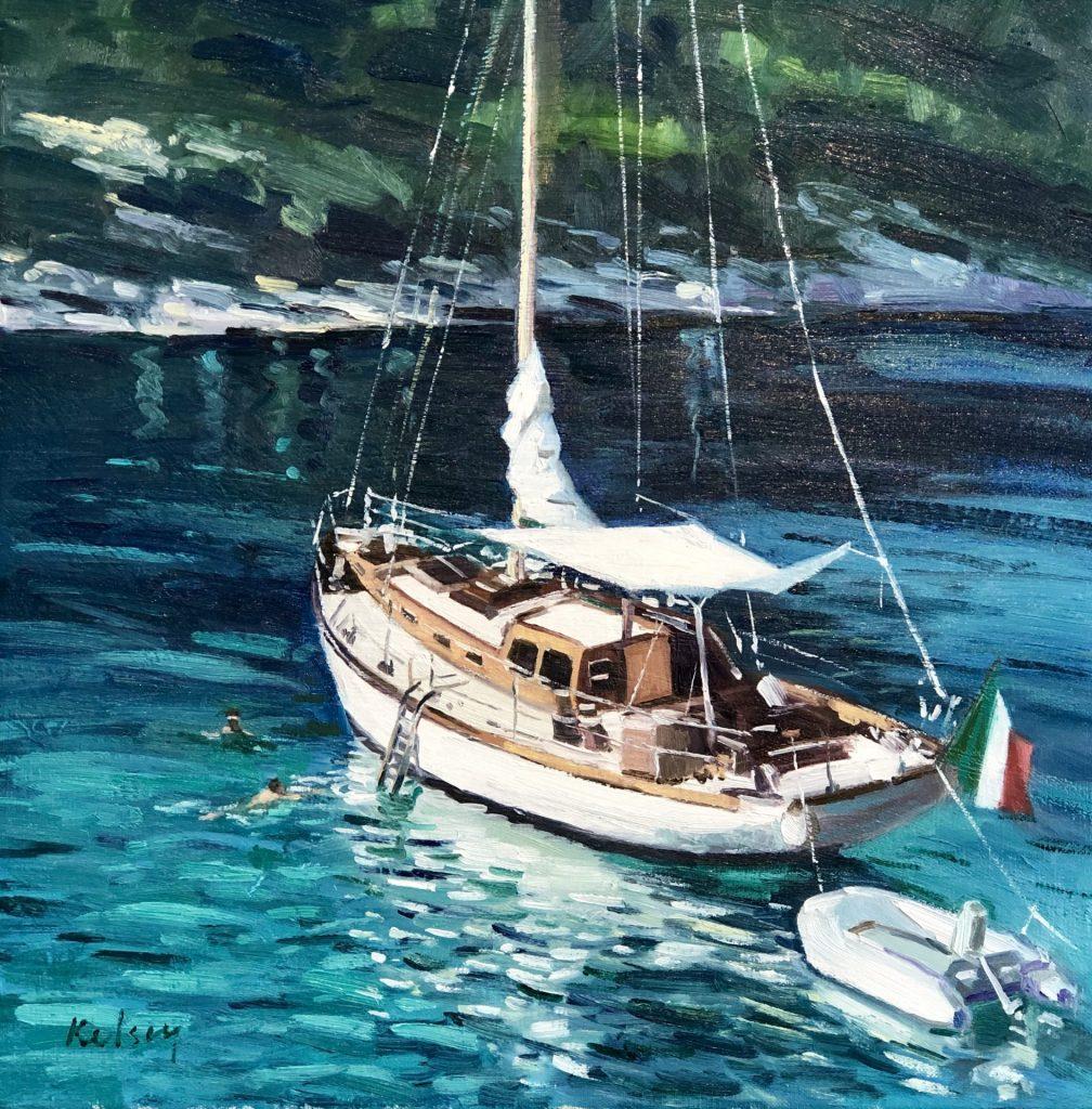 Yacht Moored off Portofino